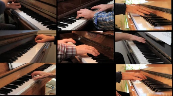 Pierre lionel matte. still from videoproject. egmont, exercise for 10 pianists