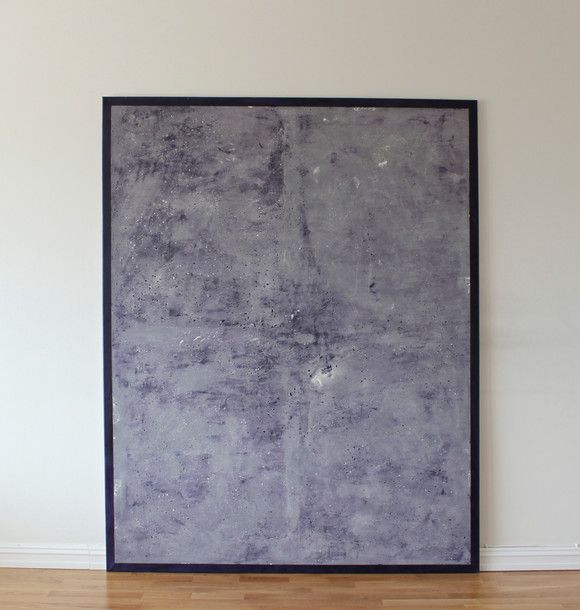 Untitled (purple) putty, oil and pigment on linen 190x140cm 2017