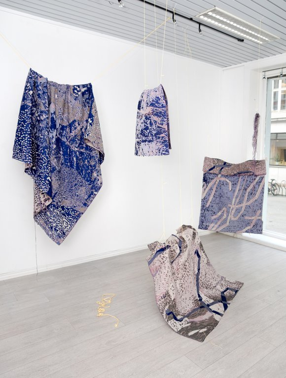 Allyce wood known hand digital jacquard tapestry installation 2018 low standards