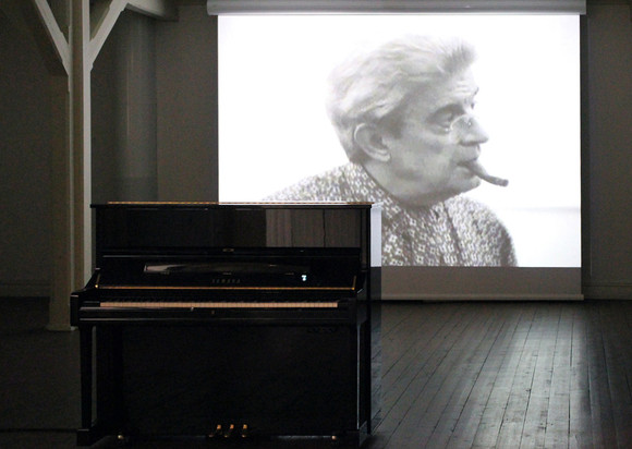 What does it atter how many lovers you have if none of them gives you the universe bjørn erik haugen 2012, video installation, 200 x 200 x 250 cm